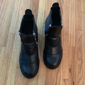 Red Wing Shoes double zipper motorcycle boots